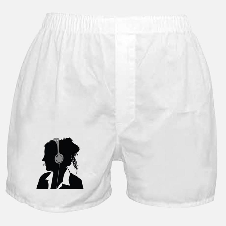 Call center operator with headphones Boxer Shorts