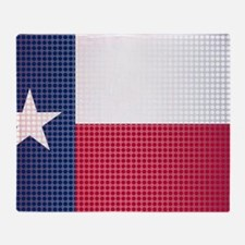 Cute Graphic texas flag Throw Blanket
