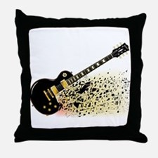 Shattering Blues Guitar Throw Pillow