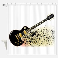 Shattering Blues Guitar Shower Curtain
