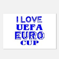 I Love Uefa Euro Cup Postcards (Package of 8)