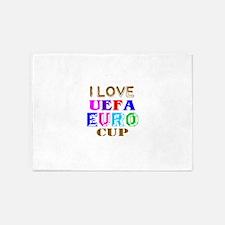 I Love Uefa Euro Cup 5'x7'Area Rug