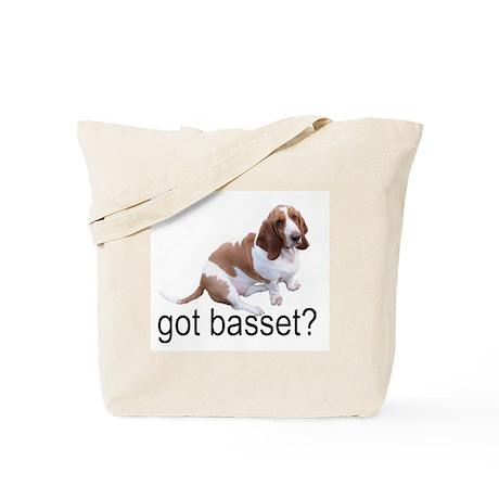 got basset? Tote Bag - Red & White