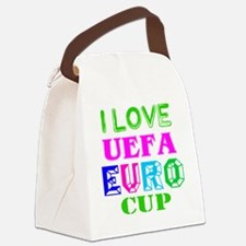 I Love Uefa Euro Cup Canvas Lunch Bag