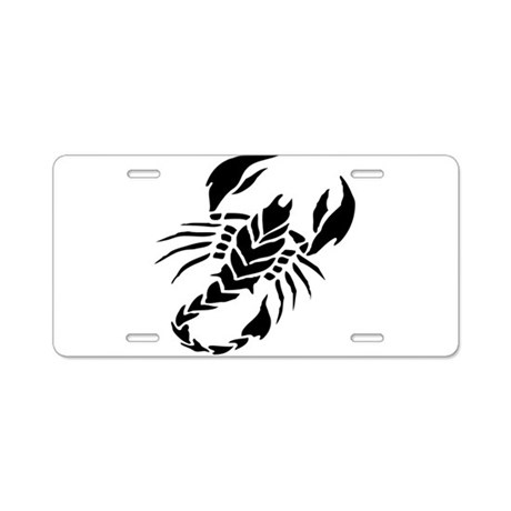 Scorpion tattoo design art aluminum license plate by admin for Tattoo artist license