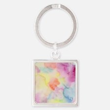 Watercolour Square Keychain