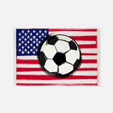 Cute Usa soccer Rectangle Magnet