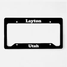 Layton UT License Plate Holder