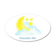 Personalized Moon and Stars Wall Decal
