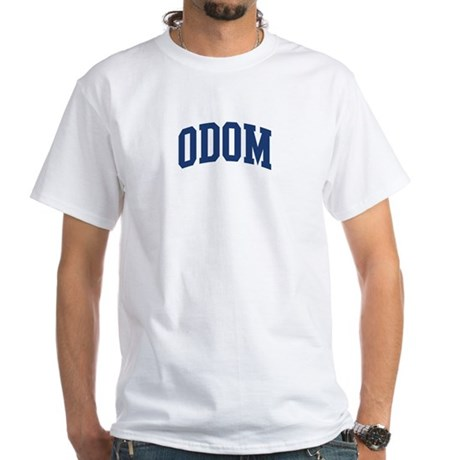 ODOM design (blue) White T-Shirt