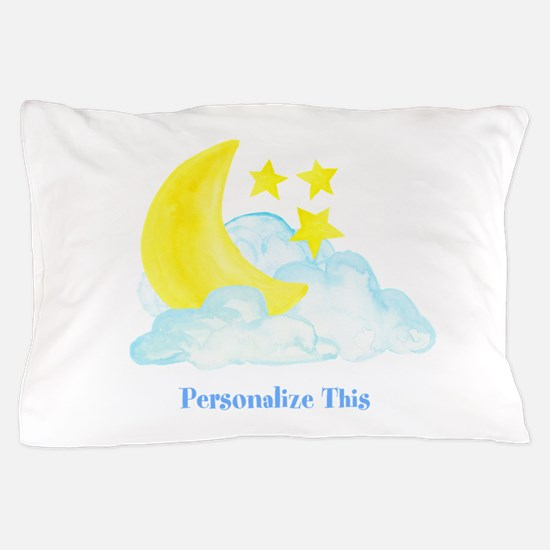 Personalized Moon and Stars Pillow Case