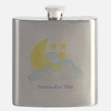 Personalized Moon and Stars Flask