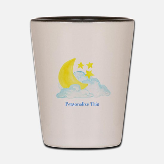 Personalized Moon and Stars Shot Glass
