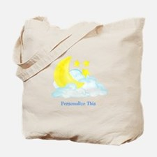 Personalized Moon and Stars Tote Bag