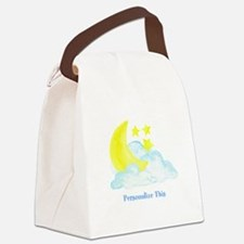 Personalized Moon and Stars Canvas Lunch Bag
