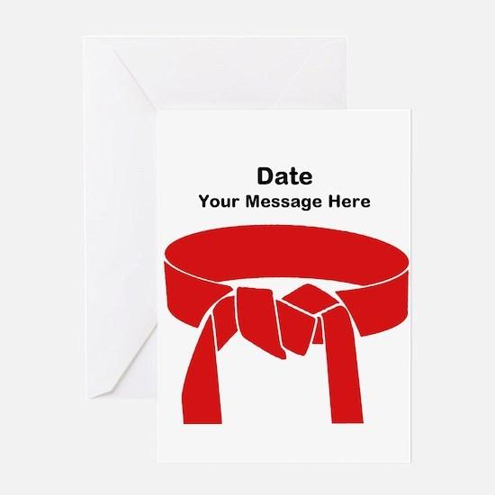 Karate Red Belt Greeting Cards
