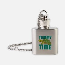 Tummy Time Baby Turtle Flask Necklace