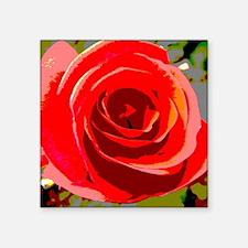 "Cute Rose garden Square Sticker 3"" x 3"""