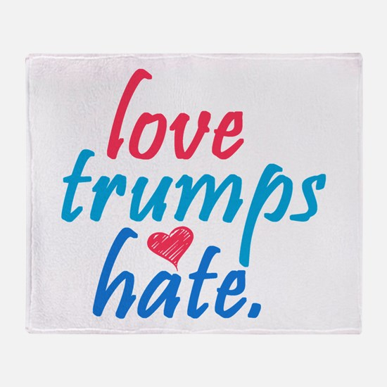 love trumps hate Throw Blanket