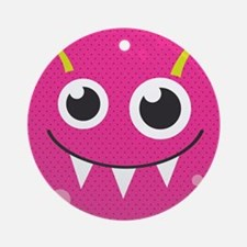 Cute Monster Round Ornament