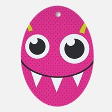 Cute Monster Oval Ornament