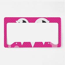 Cute Monster License Plate Holder
