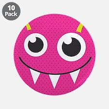 "Cute Monster 3.5"" Button (10 pack)"