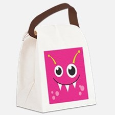 Cute Monster Canvas Lunch Bag