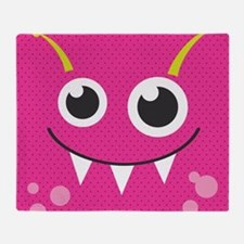 Cute Monster Throw Blanket