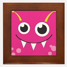 Cute Monster Framed Tile