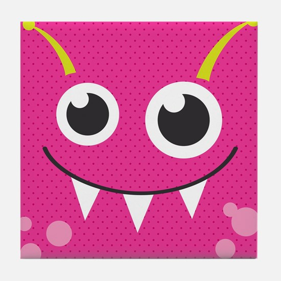 Cute Monster Tile Coaster