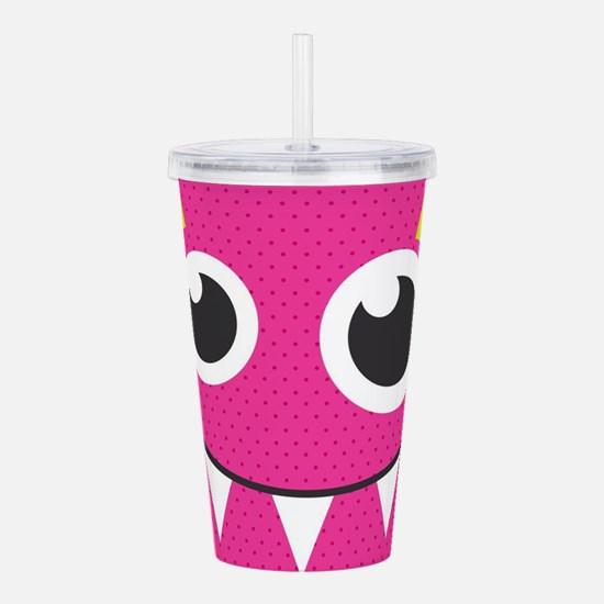 Cute Monster Acrylic Double-wall Tumbler