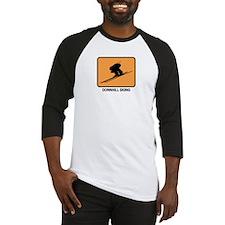 Downhill Skiing (orange) Baseball Jersey
