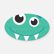 Cute Monster Oval Car Magnet
