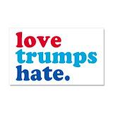 "Love trumps hate 12"" x 20"""