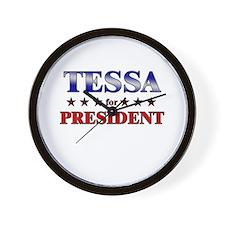 TESSA for president Wall Clock