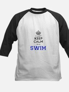 I can't keep calm Im SWIM Baseball Jersey