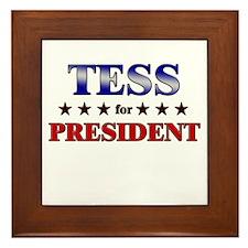 TESS for president Framed Tile