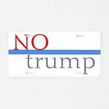 No Trump Aluminum License Plate