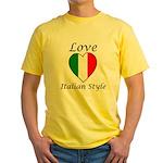 Love Italian Style Yellow T-Shirt