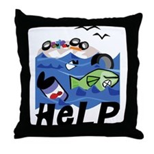 Help Save Environment Throw Pillow