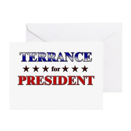 TERRANCE for president Greeting Cards (Pk of 20)