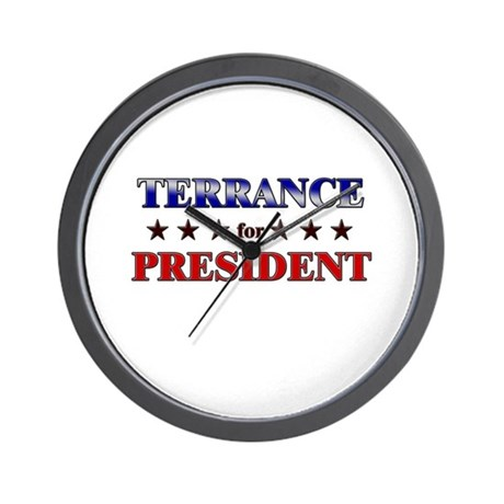 TERRANCE for president Wall Clock