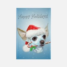 Chihuahua Christmas Rectangle Magnet