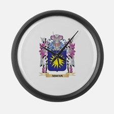 Abram Coat of Arms (Family Crest) Large Wall Clock