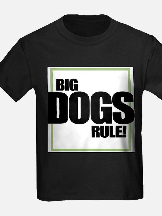 Big Dogs Rule logo Ash Grey T-Shirt