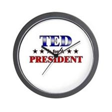 TED for president Wall Clock