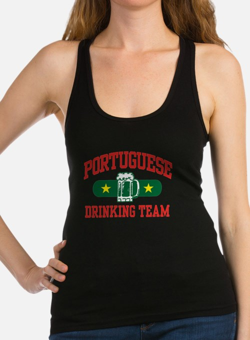 Cute Portuguese drinking team Racerback Tank Top