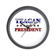 TEAGAN for president Wall Clock