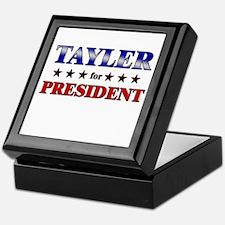 TAYLER for president Keepsake Box